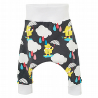 New baby, Baby trousers, Cute Dancing in the rain harem pants, gift idea