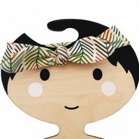 Baby Knotted Headband in ORGANIC SERENGETI ARROWS - Eco Baby Gift Idea