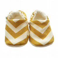 ORGANIC Birch SKINNY CHEVRONS SUN Kids Slippers Pram Shoes BABY GIFT IDEA 0-9Y