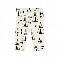 Baby leggings, Organic leggings, Black TEEPEES, unisex, new baby gift