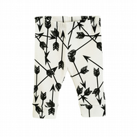 Baby leggings, Organic leggings, Monochrome ARROWS, unisex, new baby gift