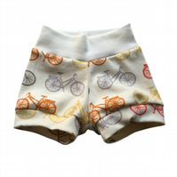 ORGANIC Baby Relaxed CUFF SHORTS in MULTI BICYCLES - A GIFT IDEA from BellaOski