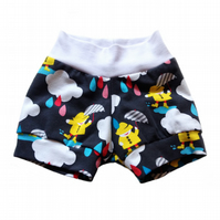 Baby Relaxed CUFF SHORTS in DANCING IN THE RAIN - A Gift Idea from BellaOski