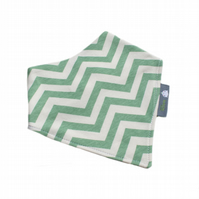 ORGANIC Baby Bandana Dribble Bib in CHEVRON POOL An ECO GIFT IDEA from BellaOski