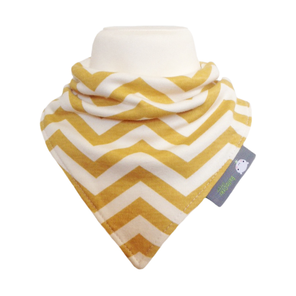 ORGANIC Baby Bandana Dribble Bib in CHEVRON SUN YELLOW  Gift Idea from BellaOski