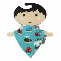 HANDMADE Baby Bandana Dribble Bib with Dutch Designer PIRATES Fabric IDEAL GIFT