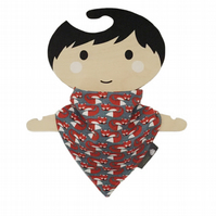 ORGANIC Baby Bandana Dribble Bib in FOXY KNIT - An ECO GIFT IDEA from BellaOski
