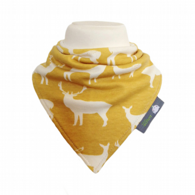 ORGANIC Baby Bandana Dribble Bib in ELK FAM SUN An ECO GIFT IDEA from BellaOski