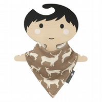 ORGANIC Baby Bandana Dribble Bib in ELK FAM SHROOM ECO GIFT IDEA from BellaOski