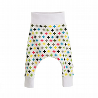 Baby trousers, Baby Pants, HAREM PANTS, Trousers MINI CROSSES, Gift Idea