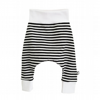 Baby HAREM PANTS Relaxed Trousers Black & White STRIPES A Gift Idea by BellaOski