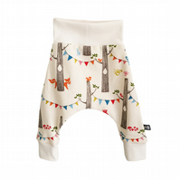 ORGANIC Baby HAREM PANTS Multi BIRTHDAY PARTY Trousers Size A Baby Gift Idea