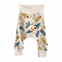 ORGANIC Baby HAREM PANTS Multi ROCKETS Trousers GIFT IDEA by BellaOski
