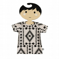 Baby tops, Baby tees, Short Sleeve T-Shirt in GEOMETRIC ARROWS Organic GIFT IDEA