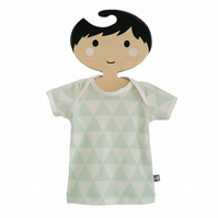 Baby Short Sleeve T-Shirt in GEOMETRIC TRIANGLES Organic Top - A BABY GIFT IDEA
