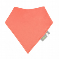 ORGANIC Baby Bandana Dribble Bib in PLAIN CORAL RED - A Gift idea from BellaOski