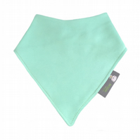 ORGANIC Baby Bandana Dribble Bib in PLAIN MINT GREEN  - Gift idea from BellaOski