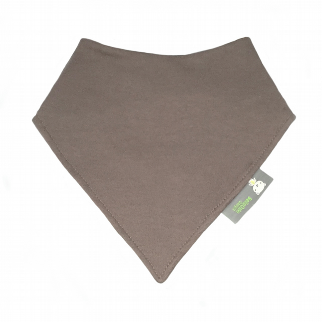 ORGANIC Baby Bandana Dribble Bib in PLAIN BROWN - A Gift idea from BellaOski