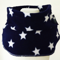 Handmade NAVY STARS Fleece UNISEX NECK WARMER DUDE SNOOD Kids SCARF