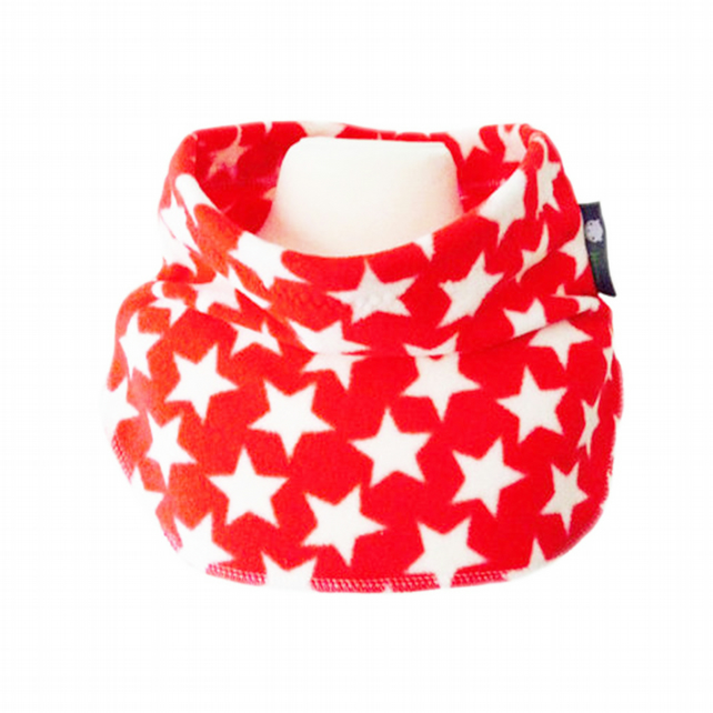 RED STARS Fleece Unisex NECK WARMER DUDE SNOOD Kids SCARF