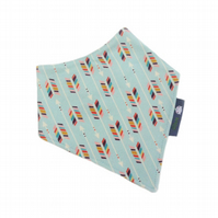 ORGANIC Baby Bandana Dribble Bib in RAINBOW ARROWS - A Gift Idea from BellaOski