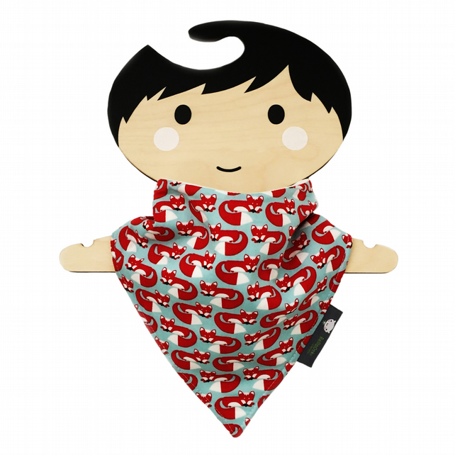 ORGANIC Baby Bandana Dribble Bib in FOXY TOO - An ECO GIFT IDEA from BellaOski