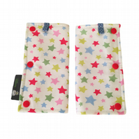 TEETHING PADS Strap Covers for ERGO Baby Carrier in Cath Kidston Multi Stars