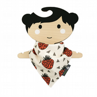ORGANIC Baby Bandana Dribble Bib in STRAWBERRIES Xmas Gift Idea from BellaOski