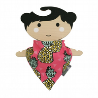 ORGANIC Baby Bandana Dribble Bib in PINEAPPLES Xmas Gift Idea from BellaOski