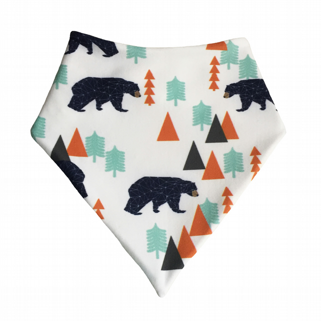 ORGANIC Baby Bandana Dribble Bib in FOREST BEARS Gift Idea from BellaOski