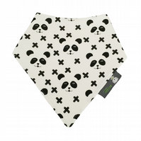 ORGANIC Baby Bandana Dribble Bib in PANDA CROSSES Xmas Gift Idea from BellaOski