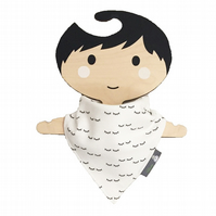 ORGANIC Baby Bandana Dribble Bib in SLEEPY EYES Xmas Gift Idea from BellaOski
