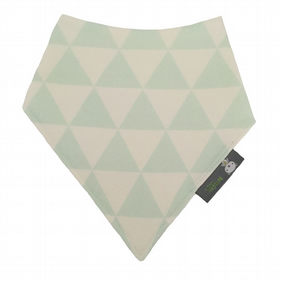 ORGANIC Baby Bandana Dribble Bib in MINT TRIANGLES Gift Idea from BellaOski