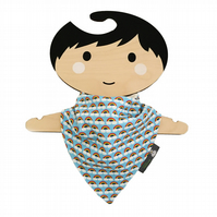 ORGANIC Baby Bandana Dribble Bib in MINI RAINBOWS Xmas Gift Idea from BellaOski