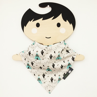 ORGANIC Baby Bandana Dribble Bib in TEEPEES & CACTUS Gift Idea from BellaOski