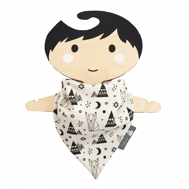 ORGANIC Baby Bandana Dribble Bib in GEO CATS & PYRAMIDS Gift Idea from BellaOski