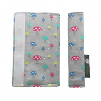 Stroller Strap Covers, pushchair covers for M&P, Quinny, Stokke, Bugaboo, CUSTOM