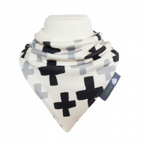 ORGANIC Baby Bandana Dribble Bib in SWISS CROSS - A GIFT IDEA from BellaOski