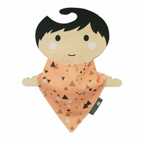 ORGANIC Baby Bandana Dribble Bib in GEOMETRIC TRIANGLES Gift Idea from BellaOski