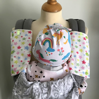 DROOL PADS Strap Covers 4 ERGO or CUSTOM Baby Carrier Cath Kidston's Star Fabric
