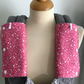 ERGO BABY CARRIER Drool Pads TEETHING PADS Strap Covers in Pink Mini Squares