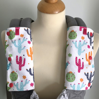 ERGO BABY CARRIER Drool Pads TEETHING PADS Strap Covers in Multi Cactus Cacti