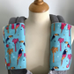 ERGO BABY CARRIER Drool Pads TEETHING PADS Strap Covers in Blue Parrots