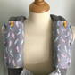 DROOL PADS Strap Covers for ERGO or CUSTOM Baby Carrier in Grey Feather Fabric