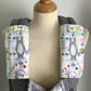 DROOL PADS Strap Covers for ERGO or CUSTOM Baby Carrier in Woodland Bears Fabric