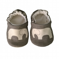 Elephant Baby Shoes Organic Moccasins Kids Slipper Pram Shoes Gift Idea 0-9Y