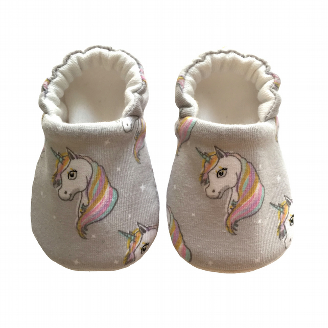 Unicorns Baby Shoes Organic Moccasins Kids Slippers Pram Shoes Gift Idea 0-9Y