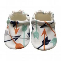 Arrow Baby Shoes Organic Moccasins Kids Slippers Pram Shoes Gift Idea 0-9Y