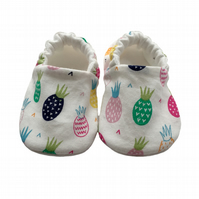 Multi Pineapples Shoes Organic Moccasins Kids Slippers Pram Shoes Gift Idea 0-9Y
