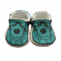 Blue Bear Baby Shoes Organic Moccasins Kids Slippers Pram Shoes Gift Idea 0-9Y